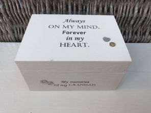 Personalised In Memory Of Box Loved One ~ GRANDAD ~ any Name Bereavement Loss - 232738806549